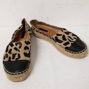 Topshop Animal Printed Slip On Flats Size 38